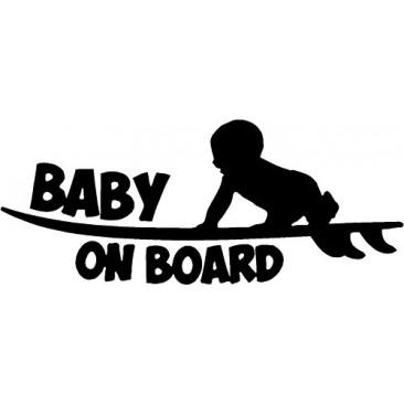 SURF BABY ON BOARD STICKER